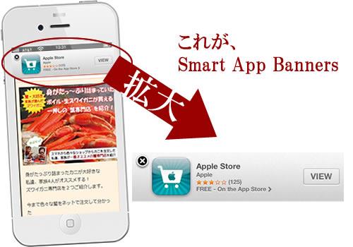 Smart App Bannersは載せるな!